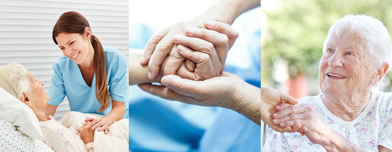 Tre positiva bilder av vårdsituationer